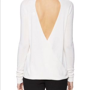 DVF Kylee Wool Ribbed Sweater, Ivory, M NWT